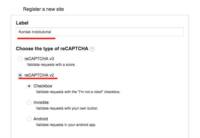 Cara Memasang Google reCaptcha V2 di WordPress Label
