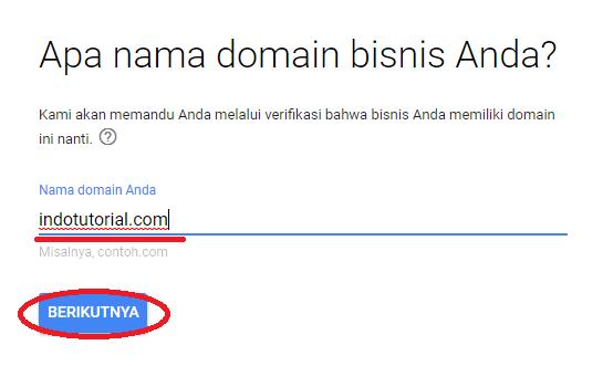 embuat Akun Gsuite - Email Google Domain Kita Sendiri - dengan VPS Linode Masukkan Domain