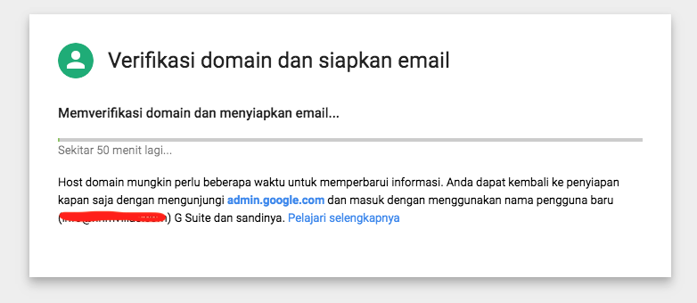 Cara Membuat Akun Gsuite - Email Google Domain Kita Sendiri - dengan VPS Linode Verifikasi Load