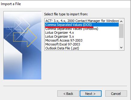 Cara Pindahkan-Export Kontak Gmail dan Import Ke Outlook Comma