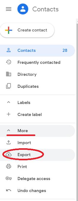 Cara Pindahkan-Export Kontak Gmail dan Import Ke Outlook Export