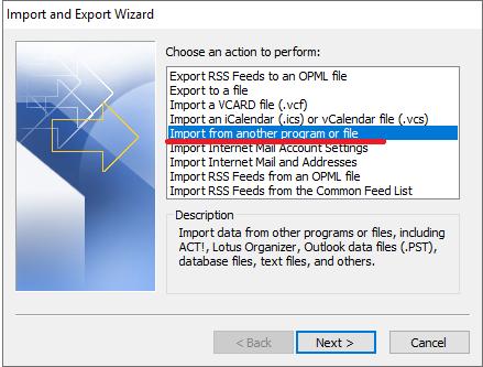 Cara Pindahkan-Export Kontak Gmail dan Import Ke Outlook Program File