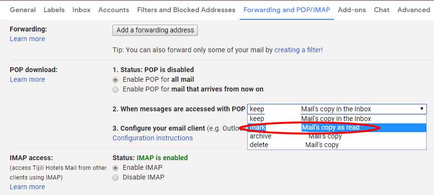 Cara membuka gmail di Outlook Enable POP