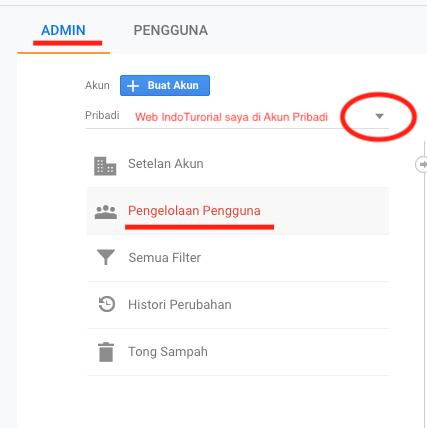 Cara menambah Admin di Google Analytics Pengelolah