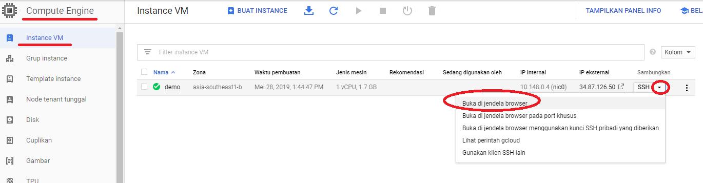 Cara Install CyberPanel di Google Cloud - Console SSH