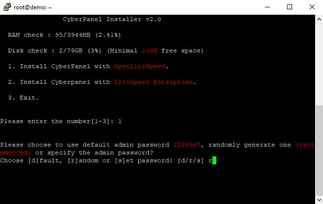 Cara Install CyberPanel di Google Cloud - PasswordSetup
