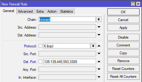 Cara Mengamankan Network PC Dari Virus Ransomware Wannacry di Mikrotik - NewFirewall General