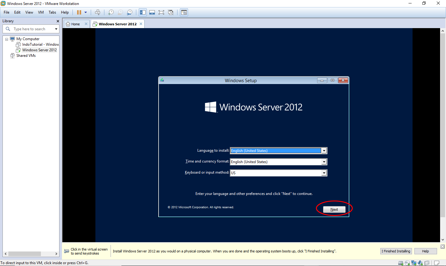 Cara install Windows Server 2012 di VMware workstation 12 Pro - Install Win by IndoTutorial