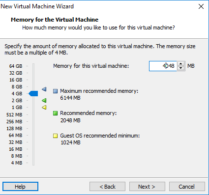 Cara install Windows Server 2012 di VMware workstation 12 Pro - Select RAM by IndoTutorial