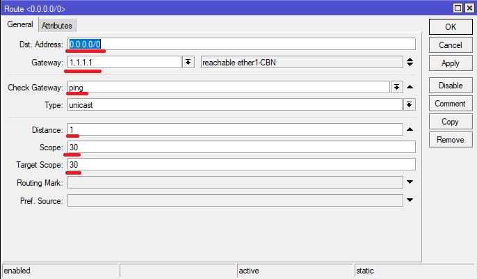 FailOver system Mikrotik tanpa menggunakan Script MainLine gateway