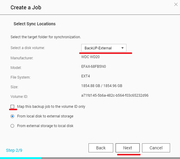 Setup Backup Hardisk External pada NAS System CreateJOB